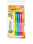 Highlighter Brite Liner Pen Style 5/Ct Asst Colors