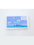 Index Card 3X5 White Ruled 100 Ct