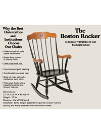 Boston Rocker Cherry/Blk