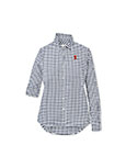 Gingham Stretch Button Up