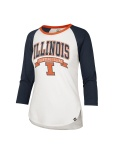 Wmn Campus Arch L/S Crew 3/4Sleeve Illinois