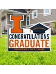 Congratulations Graduate with Cap Lawn Sign -- DROP SHIP