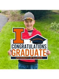 Congratulations Graduate with Cap Lawn Sign -- DROP SHIP