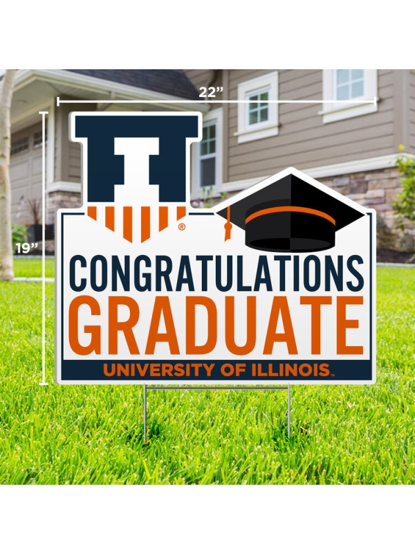 Congratulations Graduate Shield Lawn Sign -- DROP SHIP (SKU 155218354000019)