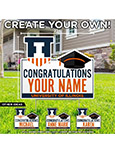 Customized Graduation with Shield Lawn Sign -- DROP SHIP